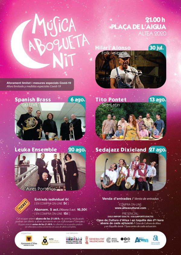 ABONAMENT / ABONO - Música a Boqueta Nit - Altea 2020