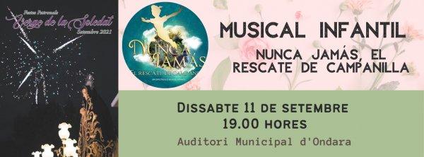 FESTES SOLEDAT 2021: MUSICAL INFANTIL PETER PAN EL RESCATE DE CAMPANILLA