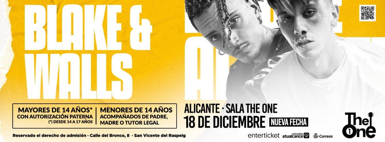 Conciertos Blake y Walls Alicante 2020