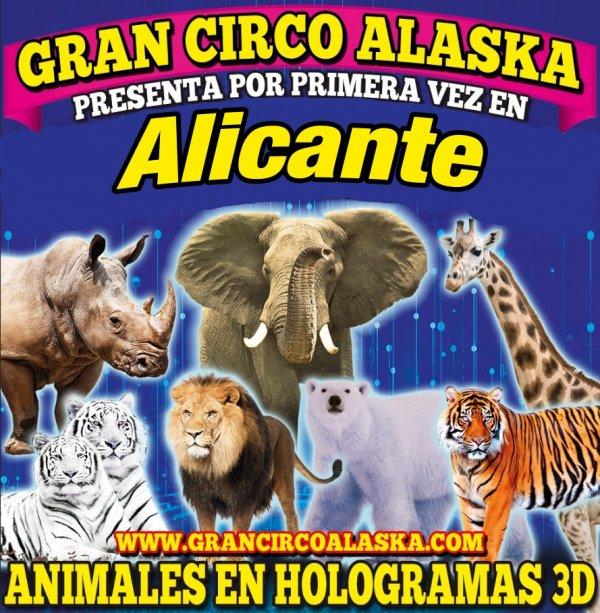 Gran Circo Alaska - Hologramas animales 3D