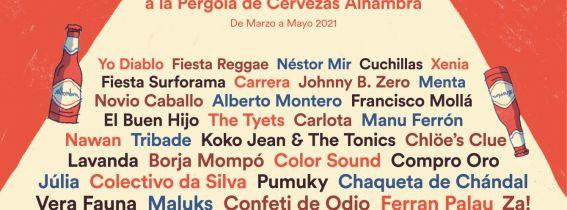 CHAQUETA DE CHÁNDAL + CARRERA: Concerts de La Marina a la Pèrgola de Cervezas Alhambra