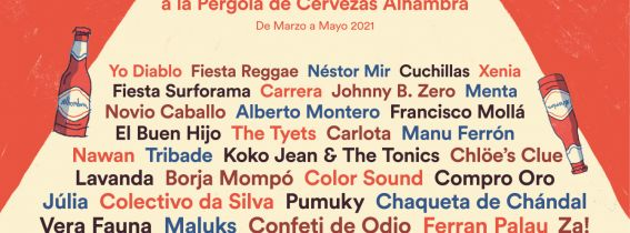 LA HABITACIÓN ROJA + BORJA MOMPÓ: Concerts de La Marina a la Pèrgola de Cervezas Alhambra