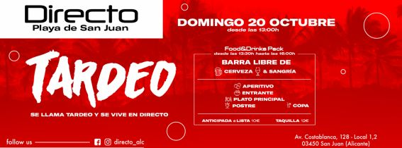 D20 TARDEO! Food&Drinks