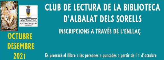 CLUB DE LECTURA DE LA BIBLIOTECA  OCTUBRE-DESEMBRE 2021