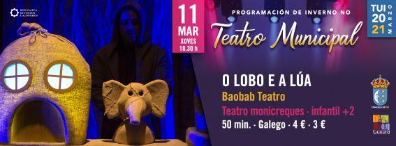 """Baobab Teatro con """"O lobo e a lúa"""""""