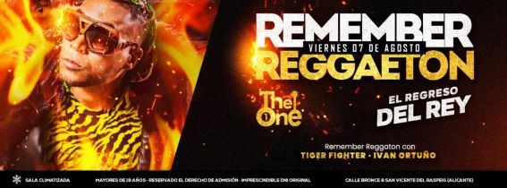Remember Reggaeton - Viernes 7 Agosto 2020