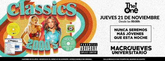 Macro Jueves Universitario - Classics 2000´s