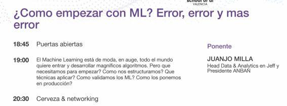 ¿Como empezar con el ML? Error, error y más error