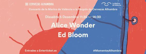 Concerts de La Marina a la Pèrgola de Cervezas Alhambra: Alice Wonder + Ed Bloom