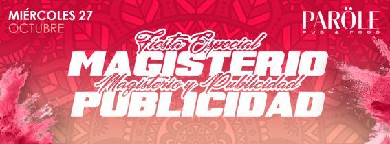 """Reservas y entradas   """"ESPECIAL MAGISTERIO Y PUBLICIDAD""""  - Miercoles Universitario"""