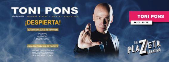"Toni Pons - DESPIERTA ""Mentalismo e Hipnosis"""