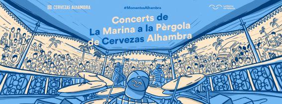 Concerts de La Marina a la Pèrgola de Cervezas Alhambra: Marcelo Criminal + Cabiria + Amy