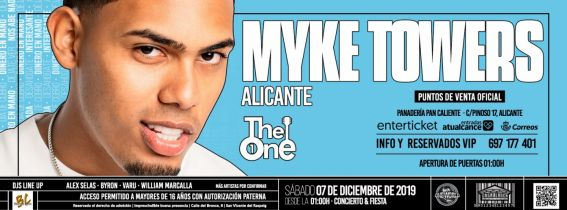 Myke Towers - Sala The One Alicante