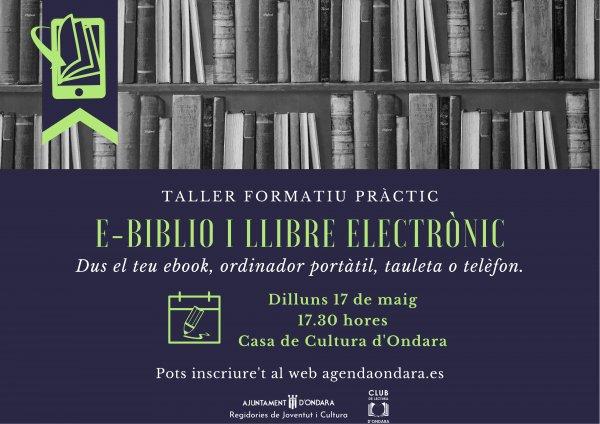 TALLER FORMATIU PRÀCTIC EBIBLIO I LLIBRE ELECTRÒNIC